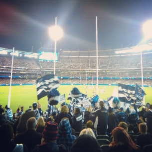 Footy game at MCG stadium
